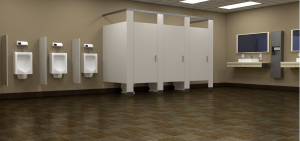 IPS panel toilets feature a small surface area that is easy to clean.